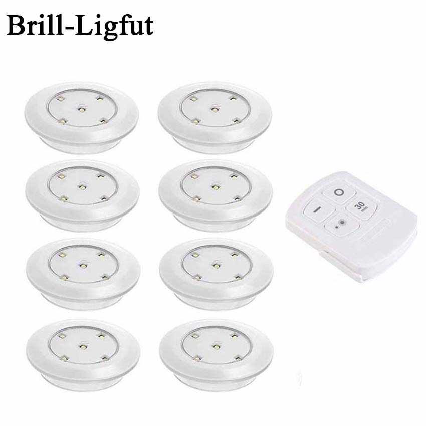 Battery operated Dimmable Touch Sensor LED Puck Lights LED Under Cabinet Light For Wardrobe Cupboard Closet Kitchen Night Light