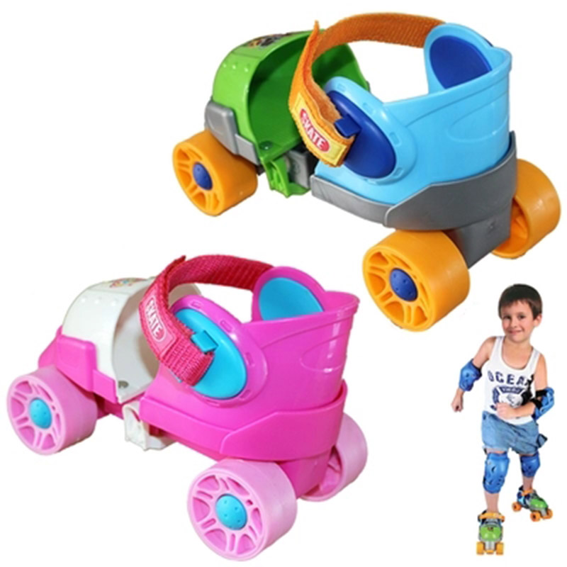 Children Baby Two Line Roller Skates Double Row 4 Wheel Skate Shoes Patines En Linea Free Size for Beginder Adjustable Gift IB28