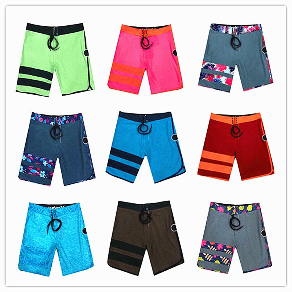 2018 Brand Phantom Elastic Men Board Shorts Quick Dry Boardshorts Male Sexy Top Quality Swimwear Mens Bathing Shorts 82 Colors