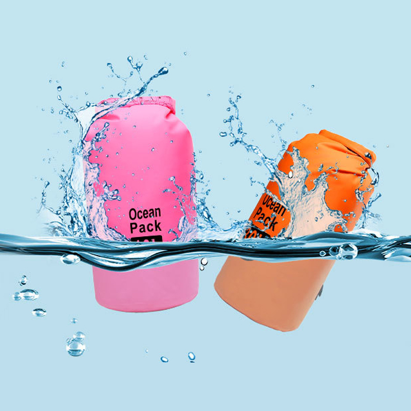 PVC 5L 10L 20L Outdoor Diving Compression Storage Waterproof Bag Dry Bag For Man Women Swimming Rafting Kayak 2