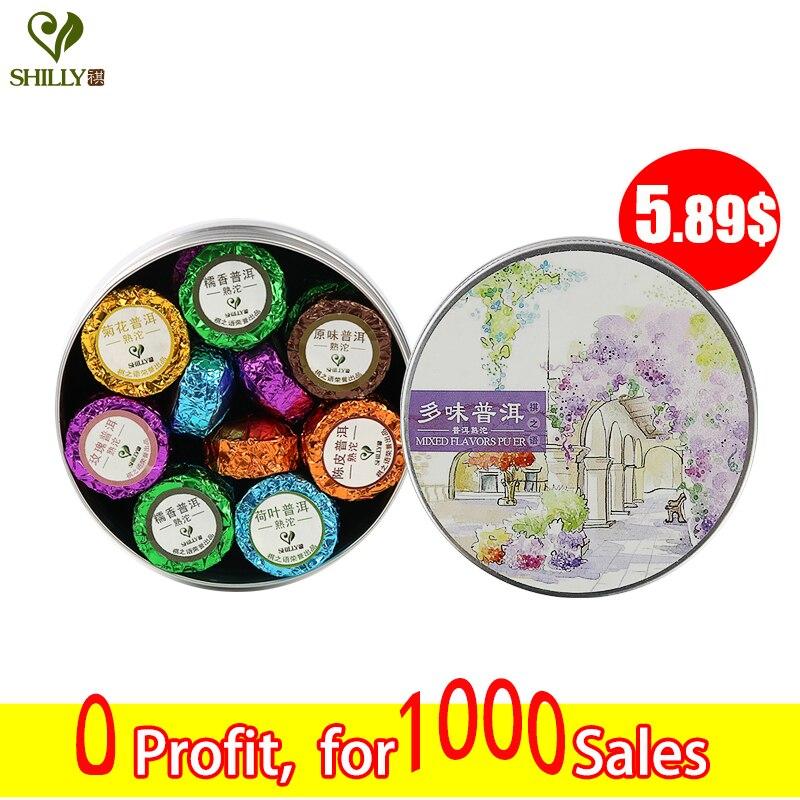 100g Shu Pu er Tea Mini Tuo Cha 6 mix Puerh Lotus ...