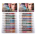 24 PCS 48 Color Pearl Eyeliner Set Makeup Cosmetic & Sharpeners