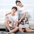 Brand New Spring and Summer Couple Pajama Sets cotton Plus XL Nightwear Floral Pyjamas women's pajamas Casual Men Sleepwear