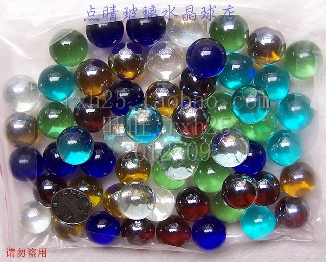 Solid Color Marbles : Solid color mm pcs glass ball marbles fish tank