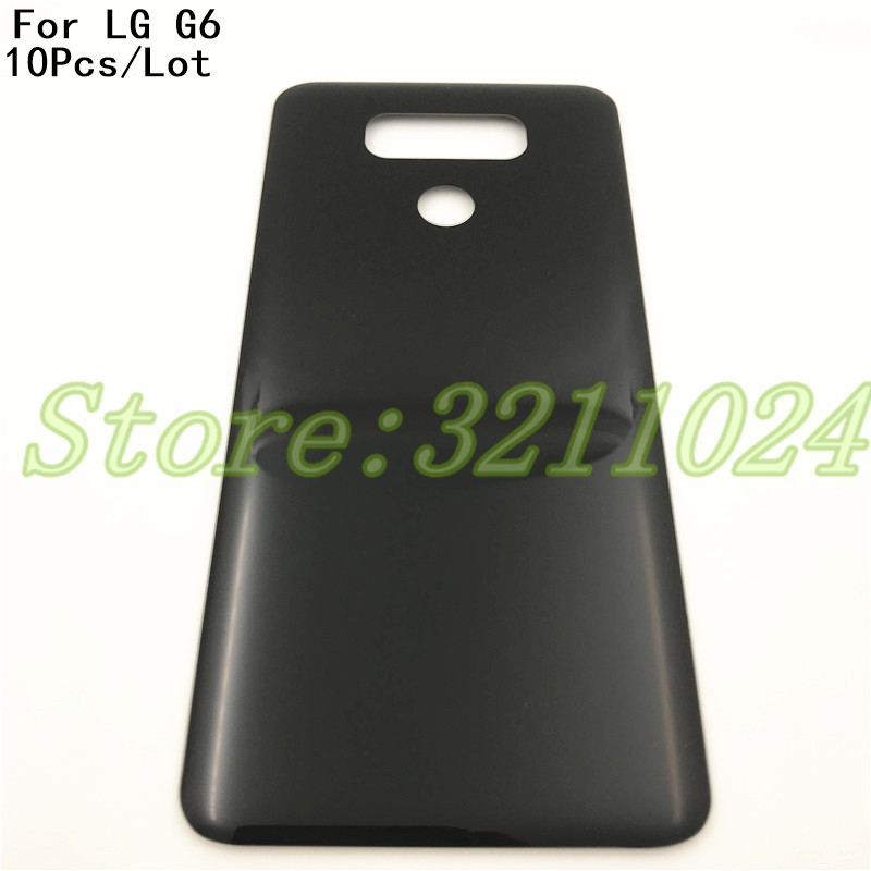 10Pcs/Lot For <font><b>LG</b></font> <font><b>G6</b></font> H870 H871 H872 <font><b>H873</b></font> LS993 Back Battery Cover Door Rear Panel Glass housing With Adhesive Sticker Replacement image