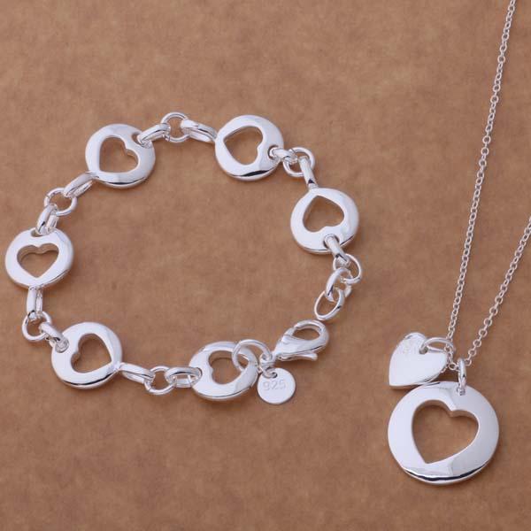 0f0978724b73 As118 de plata al por mayor Juegos de joyería pulsera 135 + collar  276 ahoaiyva bilajzsa