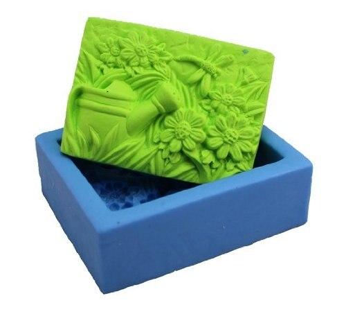 Molde de jabón de silicona para jardín Molde hecho a mano de - Artes, artesanía y costura