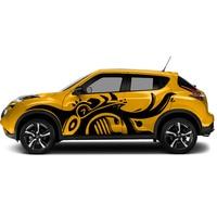 Автомобильная наклейка 2 шт. динозавр Боковая дверь тело графический винил автомобильные аксессуары Модифицированная наклейка на заказ дл