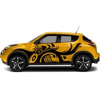 car decal 2 Pcs dinosaur side door body graphic vinyl car accessories modified sticker custom for ford nisaan juke 2011 2017