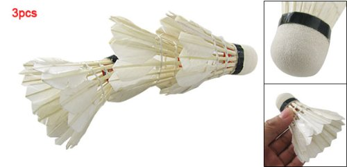 Hot White Goose Feather Badminton Shuttlecock 3pcs W Carboard Cylinder