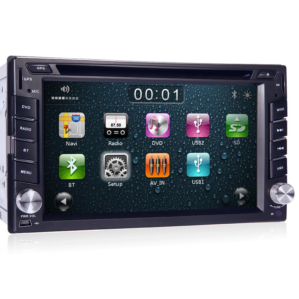 Car DVD Player For Universal 2 Two Din 6.2 In Dash Car DVD Player Radio 3G USB BT Bluetooth DTV HD DVB-T Steering Wheel+8G Maps usb 20 software radio dvb t