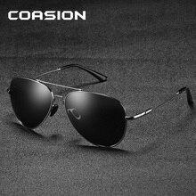 COASION Brand Classic Retro Pilot Polarized Sunglasses Men Aviation Frame Sun Glasses for Driving UV400 Protection CA1190