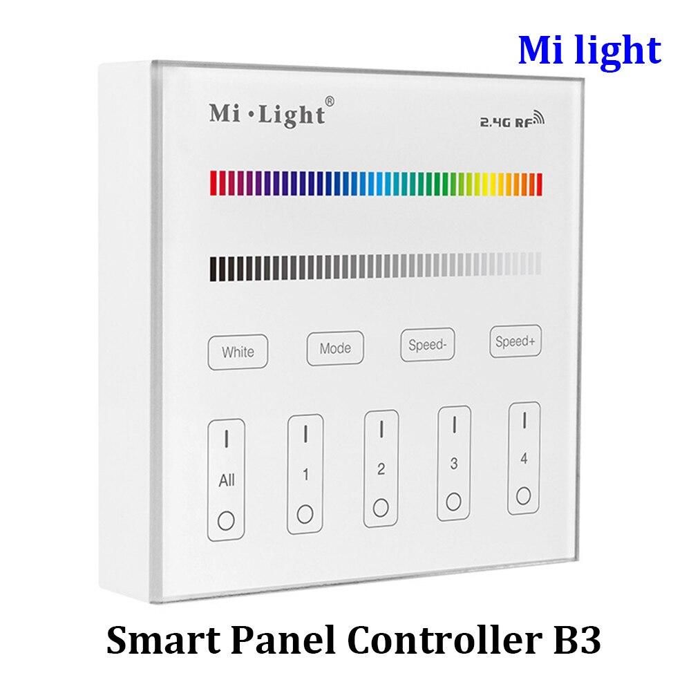 BSOD Milight B3 RF 2.4G bezdrátový ovladač 4-pásmový RGB / RGBW inteligentní ovládací panel dálkového ovladače 16 milionových barev DC 3V baterie
