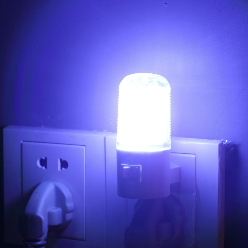 1pcs Lowest price Wall Mounting Bedroom Night Light Lamp 1W 6 LED AC Plug Energy Saving