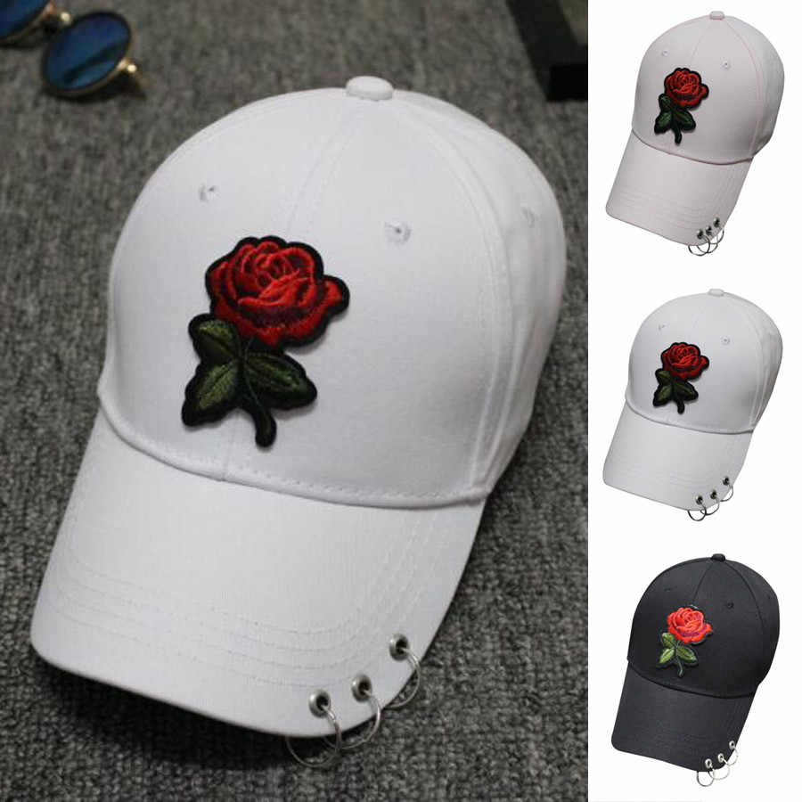 Summer ladies flower baseball cap female cotton high quality embroidery baseball cap adjustable 2019 new czapka z daszkiem damsk