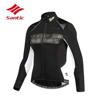 Santic Cycling Jacket Women Thermal WARM+ Fabric Fleece Outdoor Thermal Road Bike Bicycle Clothes Keep Warm Ropa Ciclismo