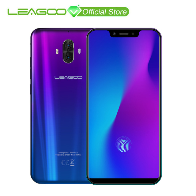 "Mondial Version LEAGOO S10 P60 6 gb 128 gb 6.21 ""19:9 U-Cran Mobile Téléphone 20.0MP 4050 mah 9 v/2A Dans-Écran D'empreintes Digitales Android 8.1"