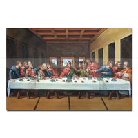 high quality Large 100% Hand Painted The Last Supper Jesus and His Disciples Oil Painting On Canvas Abstract Wall Art Picture