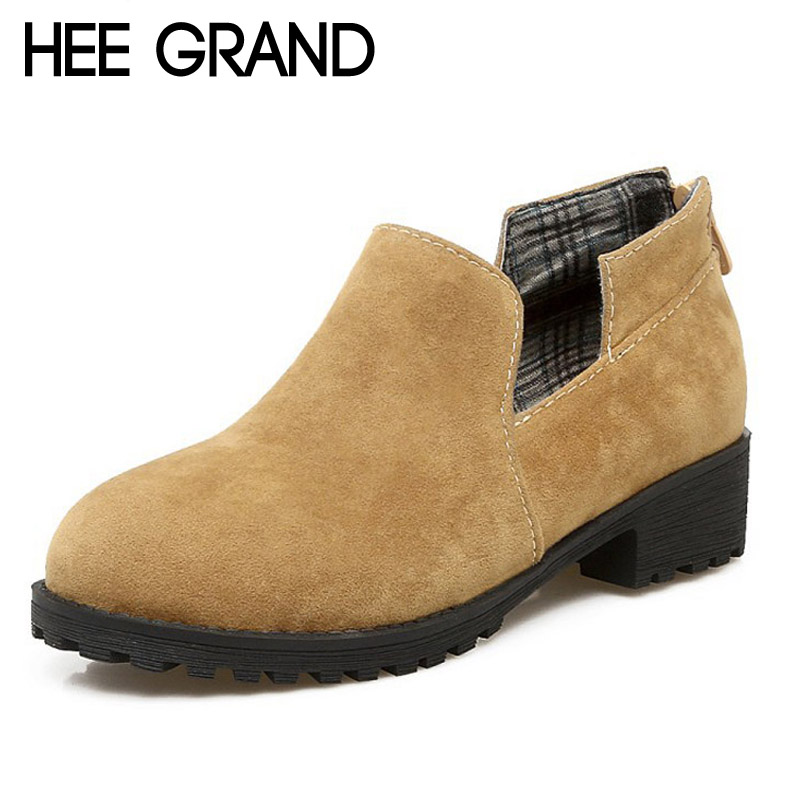 HEE GRAND 2017 New Spring Ankle Boots Women Warm British Fashion Platform Vintage Ankle Boots Shoes Woman 4 Colors XWD5923 hee grand inner increased winter ankle boots warm fringe fashion platform women snow boots shoes woman creepers 3 colors xwx6180