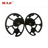 1piar Aluminum alloy Archery Compound Bow Pulley for 20 70 LBS Compound Bow for Hunting Shooting