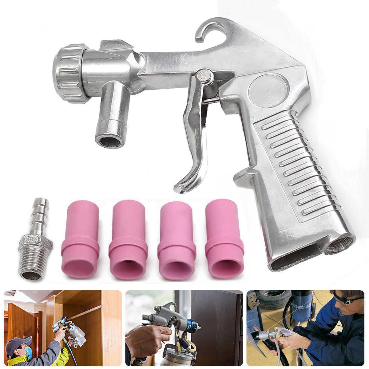 New Sandblaster Feed Blast Gun Air Siphon Sand Blasting Abrasive Gun Ceramic Nozzles Tips Kit Power Tools Spray Gun