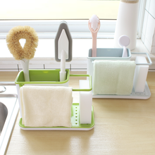 Rag Sponge Cleaning Ball Storage Plastic Drain Kitchen Home Counter Rack