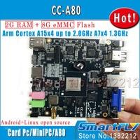 Cc a80/cubieboard4 высокопроизводительный Мини ПК развитию/Cubieboard A80 Cortex a15x4 до 2.0 ГГц, a7x4/2 ГБ DDR 8 г EMMC