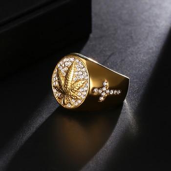 טבעת גולדפילד עלה הזהב לגבר