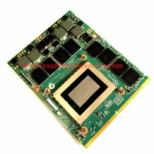 Оригинальный GTX 580 м GTX580M 2 Гб N12E-GTX2-A1 видеокарта для Dell Alienware M17X M18X графическая карта GPU Замена Испытано рабочих