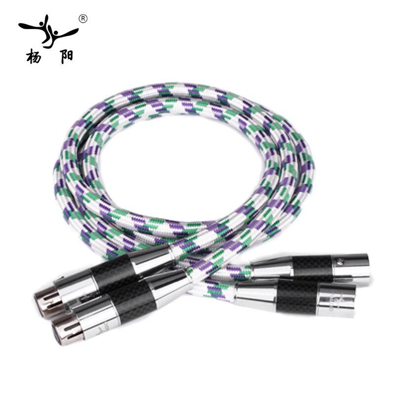 YYAUDIO One Pair C2 Hifi XLR Cable High Quality OCC 2 XLR Male to Female Audio Cable