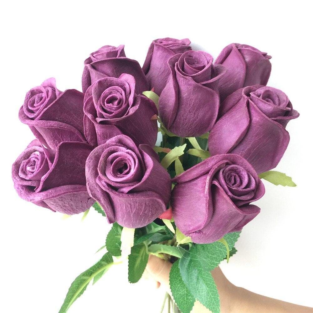 Rosas Real Touch Negro Rosa Azul Rosa Rojo Blanco Amarillo Púrpura - Para fiestas y celebraciones - foto 3