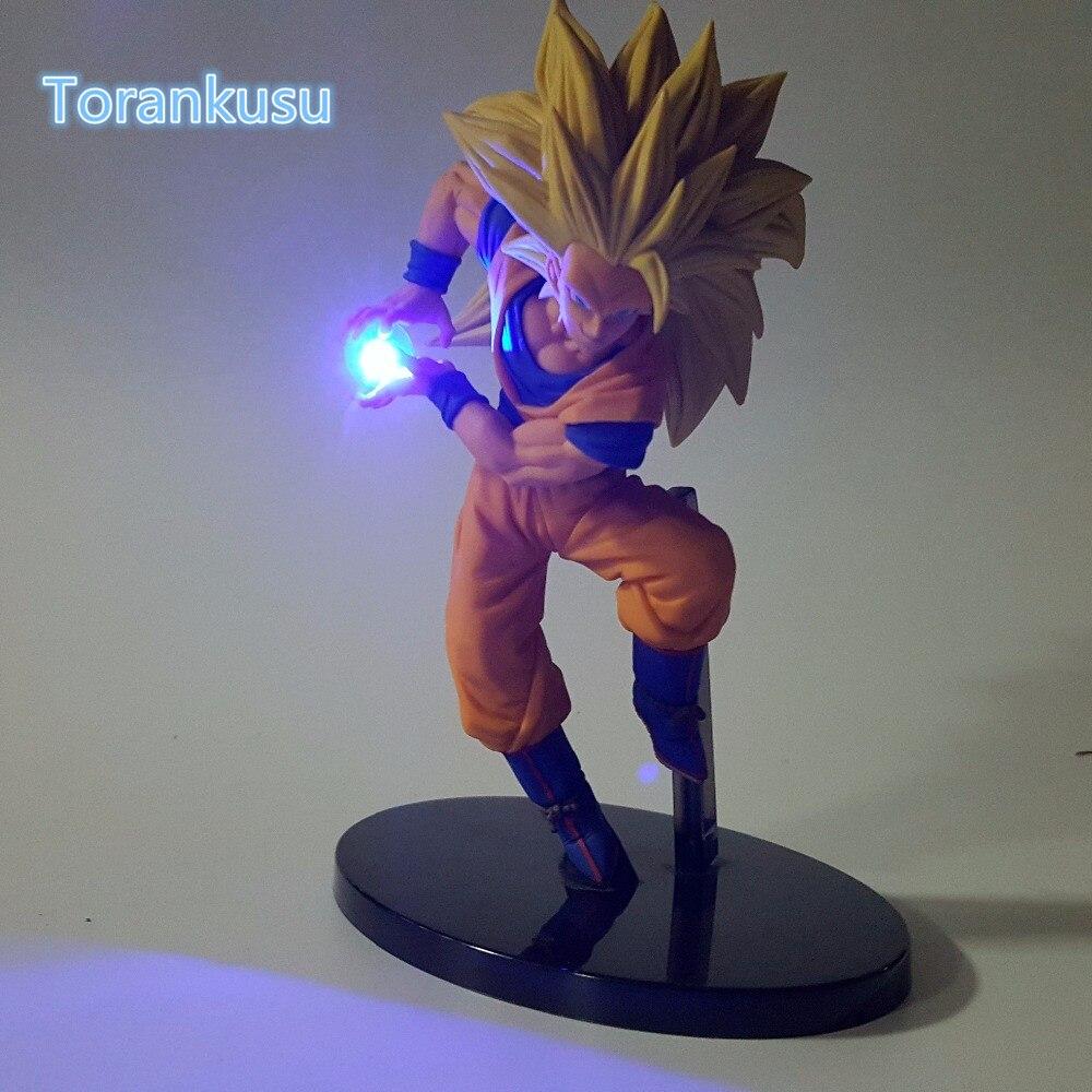 Dragon Ball Z Action Figure Sohn Goku Kamehameha Led Licht DIY Display Spielzeug Esferas Del Drachen Freezer Spielzeug DBZ + licht DIY09