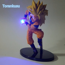 Dragon Ball Z Action Figure Son Goku Kamehameha Led Light DIY Display Toy Esferas Del Dragon Freeza Toy DBZ+Light DIY09