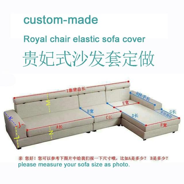 Custom Made Style L Sofa Cover Genuine Leather Elastic Measurement