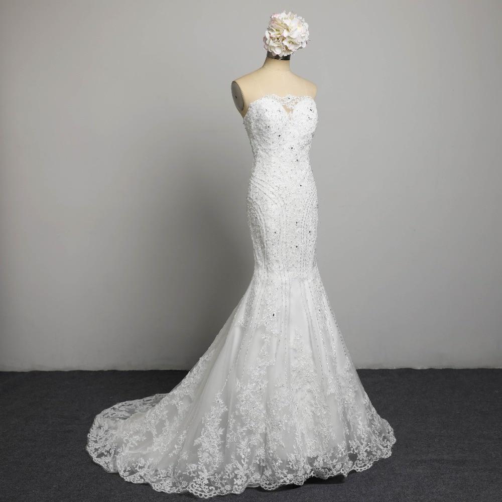 Sexig Stroplös Beading Snörning Vestidos De Novia Off Shoulder - Bröllopsklänningar - Foto 2