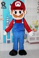 Высокое качество Забавный Хэллоуин Косплэй Маскоты костюм супер Марио Луиджи братья Необычные Наряжаться партии Маскоты костюм для взросл