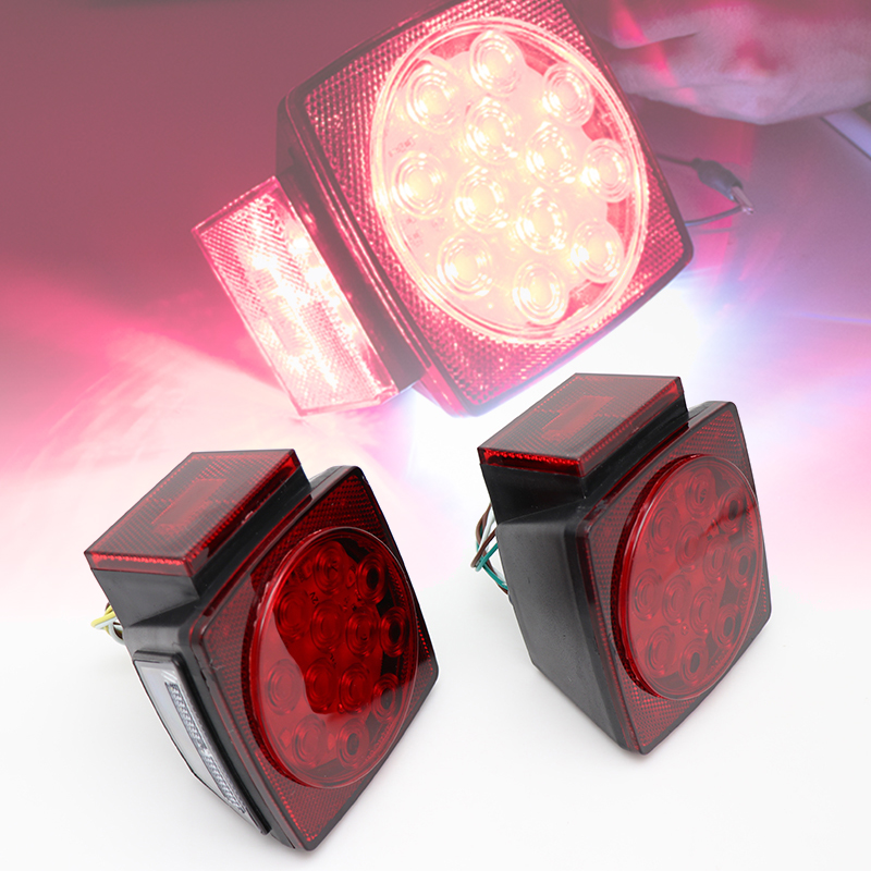 Image 2 - 1 Pair HL H 001 12V Car LED Tail Light Lamps For Trailers Truck Boat Waterproof-in Truck Light System from Automobiles & Motorcycles