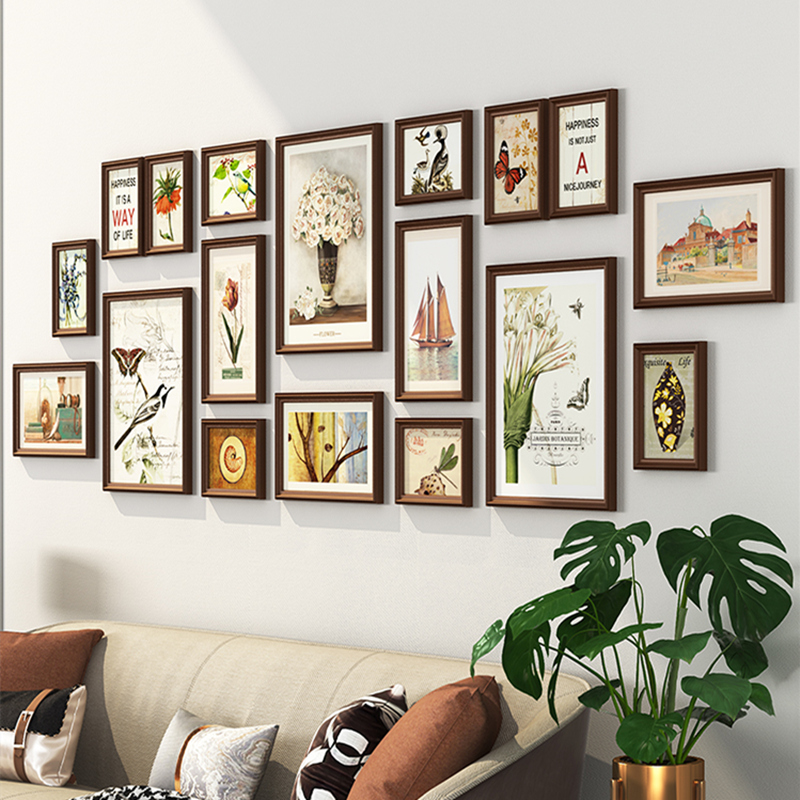 2019 Large Living Room Decor Wall Hanging Photo Frames Set 18pcs Picture Frames Suit Home Background Photo Frame Combination Frame Aliexpress