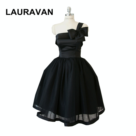 Black Bridesmaid Faironly Princess One Shoulder Brides Maids Dresses Teen Dressed Girl Dress For Parties