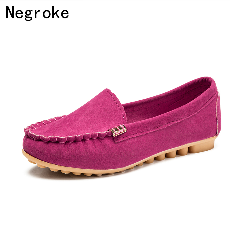Suede Casual Loafers Round Toe Rubber Sole Breathable Flats Soft Sole Shallow Mouth Peas Shoe New Fashion Solid Color Women Shoe