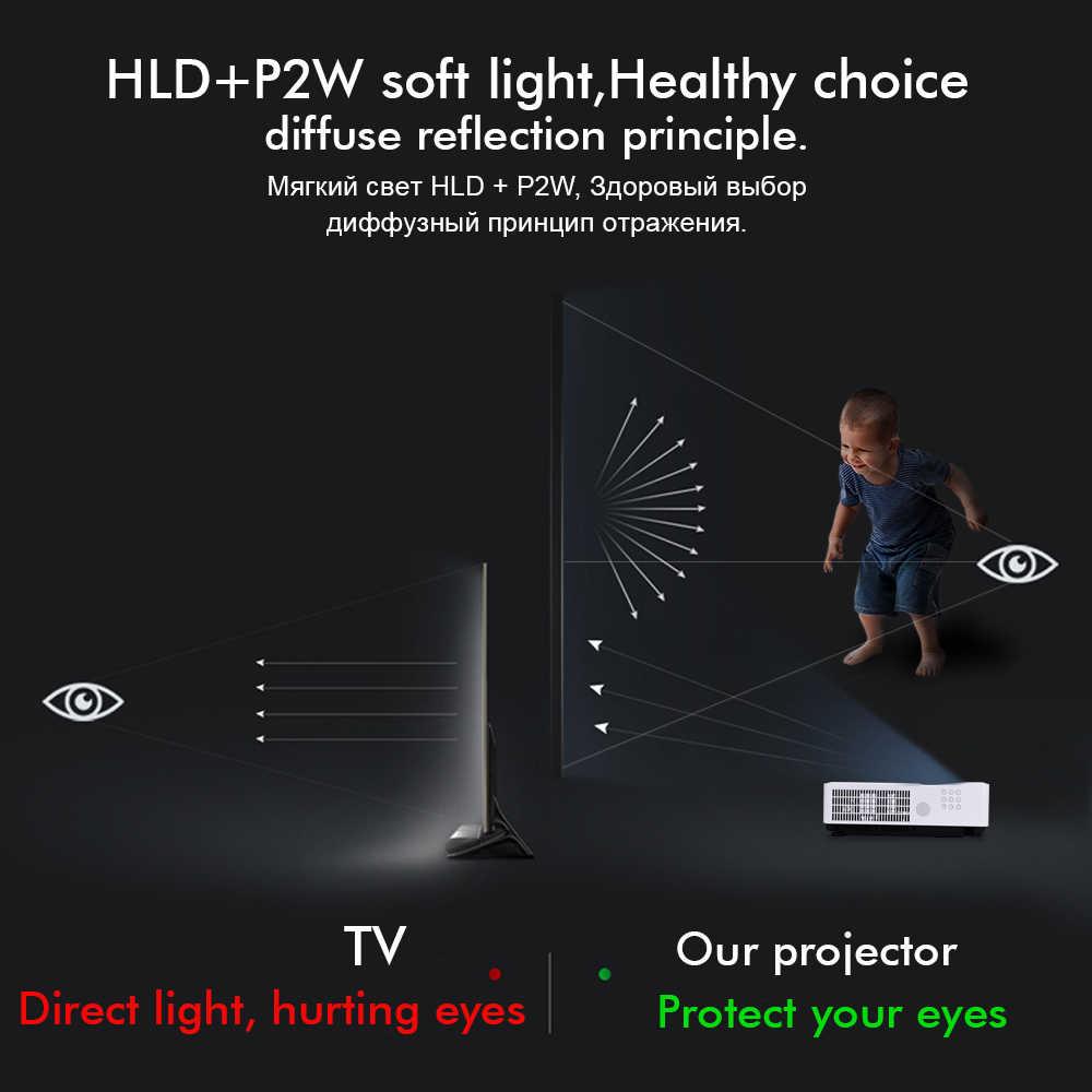 Byintek Cloud K8 Ultra Short Throw Hologram 3LCD Video Full HD 1080P LED Proyektor untuk Siang Hari Rumah Pendidikan Bisnis