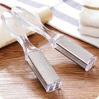 Aço inoxidável Double-sided Esfregar Escova de Lavagem de Moagem de Pedra Pé Pés Descascando Arquivo As Solas Dos Pés Escova Para Calos ferramentas