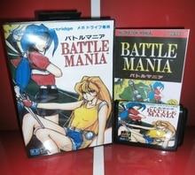 MD карточные игры-Боевые Mania с коробкой и руководством для MD megadrive игровой консоли 16 бит md карты