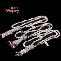 [MeiBaPJ]100% Real Freshwater Pearl Leopard head Necklace Wedding Jewelry Bohemia style long sweater Necklace Handmade Jewelry