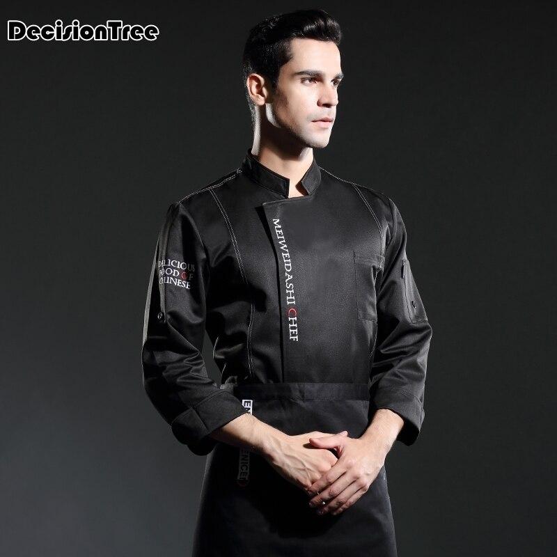 2020 Wholesale Unisex Kitchen Chef Restaurant Uniform Shirt Breathable Double Breasted Dress Chef Chef Works Jacket