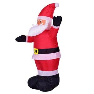 Гигантский надувной Санта-Клаус на открытом воздухе рождественские украшения для дома двора украшения сада Счастливого Рождества Добро по...