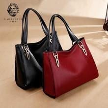 Laorentou Brand Women Leather Bag Classy Chic Tote Shoulder Bags Female Large Capacity & Woman Handbag Lady Luxury Handbags