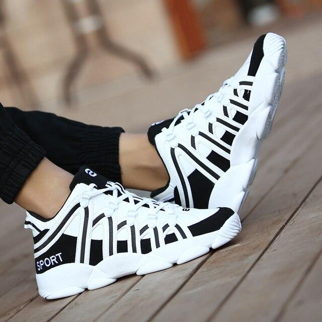 Zapatos informales para hombre, zapatillas ligeras de ocio callejero, transpirables, con cordones, de alta calidad