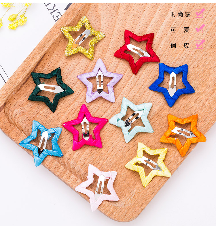 cf01ceb6ba8 Cute Girls Candy Colors Star Safety HairPins Children Hairgrips Baby ...