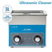 GTSonic 3L Ultrasonic Cleaner With Powerful Transducer Heater Large Tank Capacity For Dirt Dust Smears manicure sterilizer tools